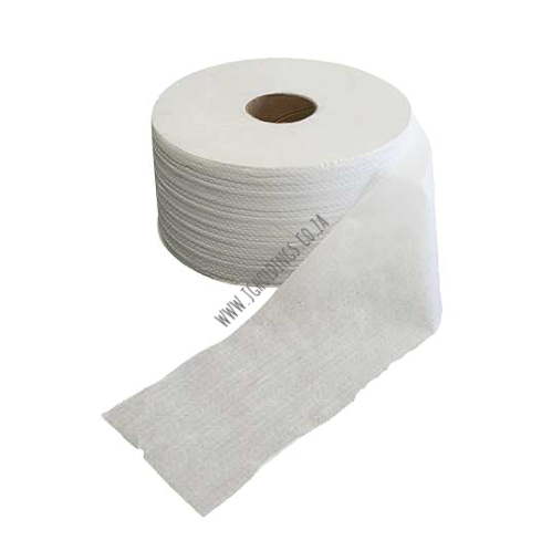 1 PLY TWIN JTR VIRGIN WHITE TOILET PAPER 8 X 250M, PP/36