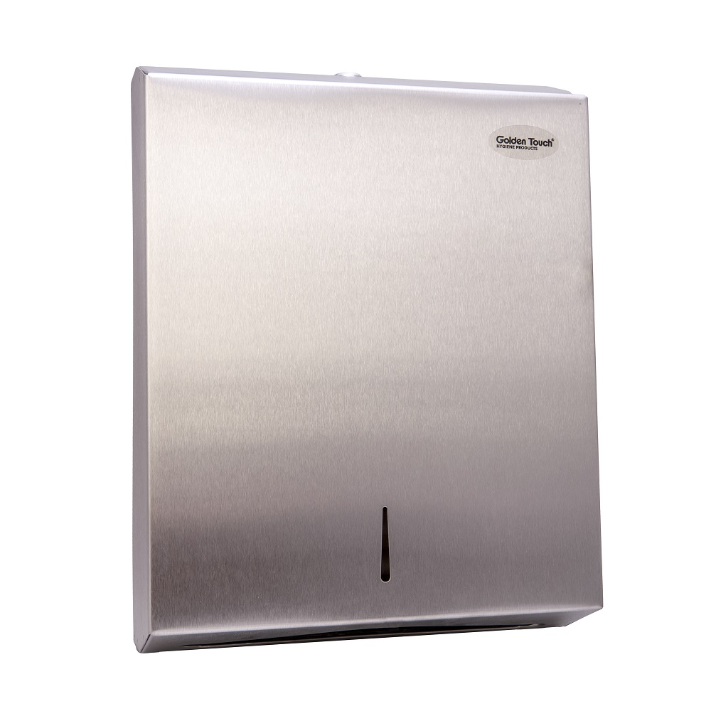 Stainless Steel Golden touch folded Paper towel Dispenser