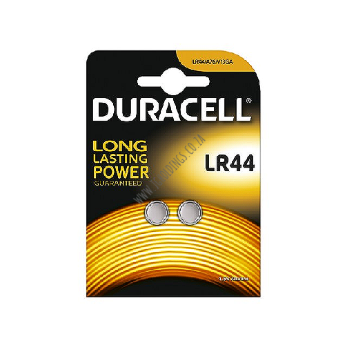 DURACELL ALKALINE LR44 BATTERY 2 PACK 10  PER BOX