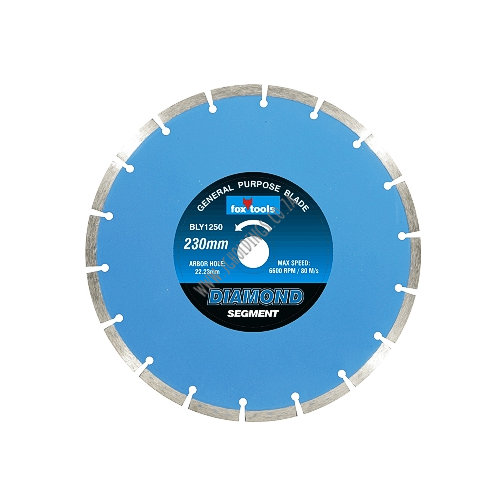 FOX DIAMOND SEGMENT MASONRY / CONCRETE CUTTING BLADE / DISC