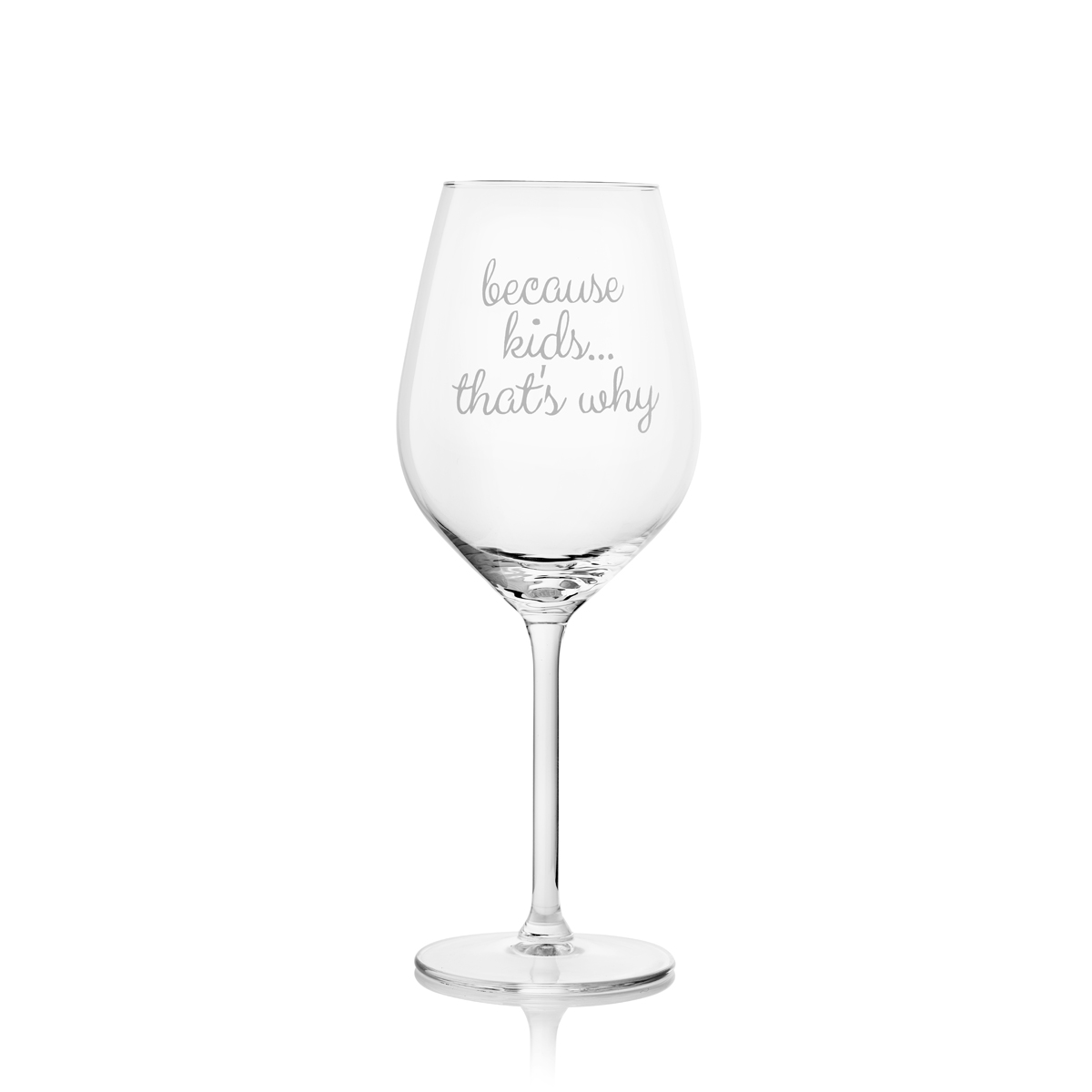 Wine Glass - Because Kids, That's Why