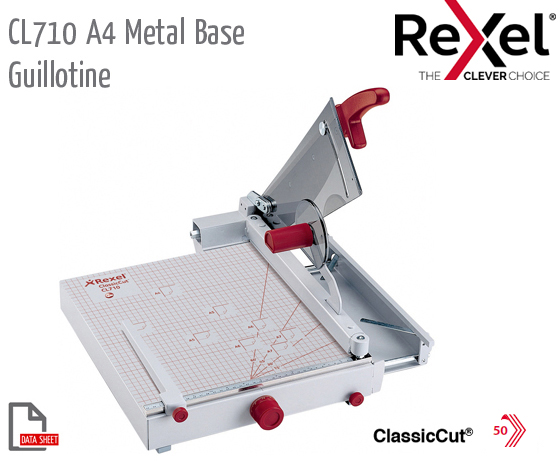 CL710 Guillotine A4 Metal Base+Manual Clamp