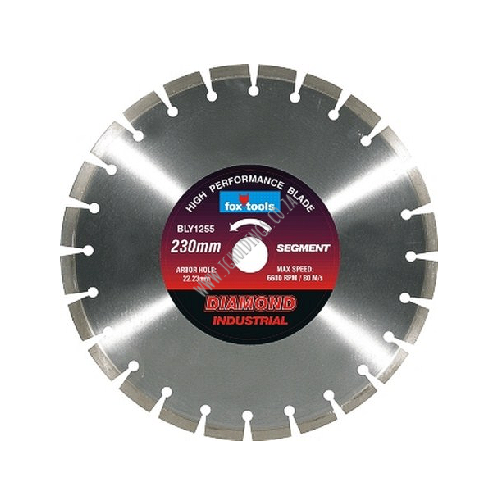 FOX DIAMOND SEGMENT INDUSTRIAL A-GRADE MASONRY CUTTING BLADE / DISC