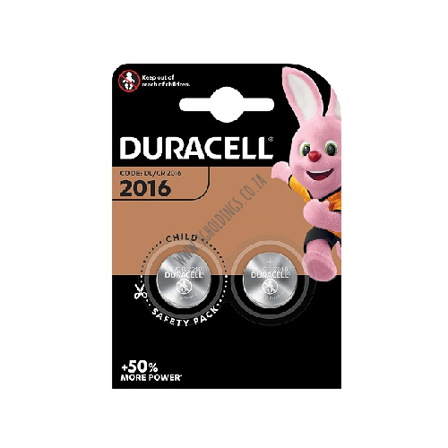 DURACELL DL2016 COIN BATTERY 2 PACK 10  PER BOX