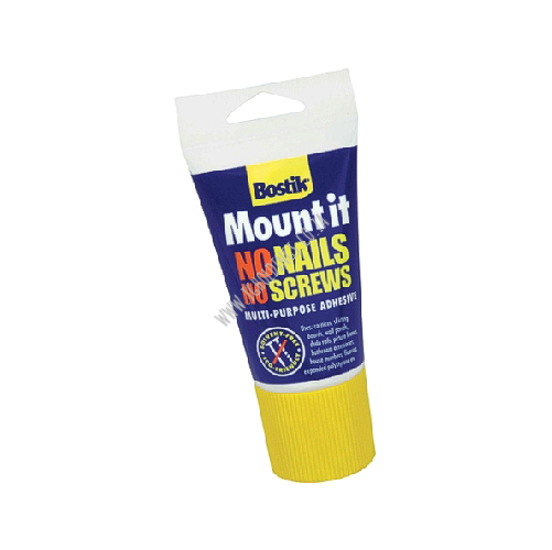BOSTIK MOUNT-IT MULTI PURPOSE ADHESIVE - NO NAILS NO SCREWS TUBE
