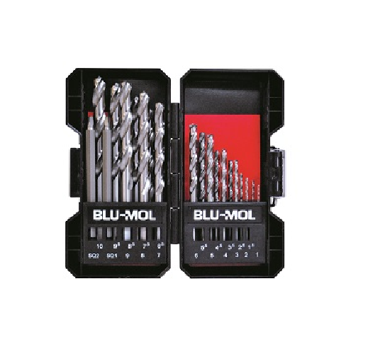 BLU-MOL X HSS DRILL BITS SET 19 PIECES