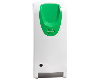 White and Green Betasan Automatic Gel Dispenser