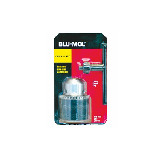 BLU-MOL CHUCK AND KEY SET 3/8``X24 FEMALE 13MM