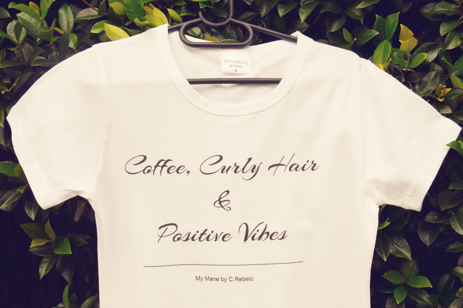2bd4432bd Ladies T-shirts - Coffee, Curly hair and Positive vibes