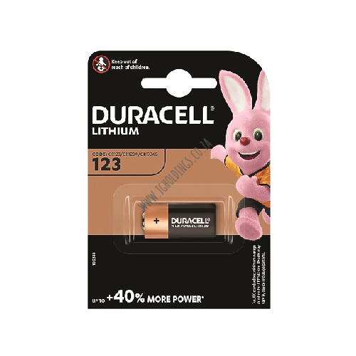 DURACELL HIGH POWER LITHIUM 123 BATTERY 1 PACK 10 PER BOX