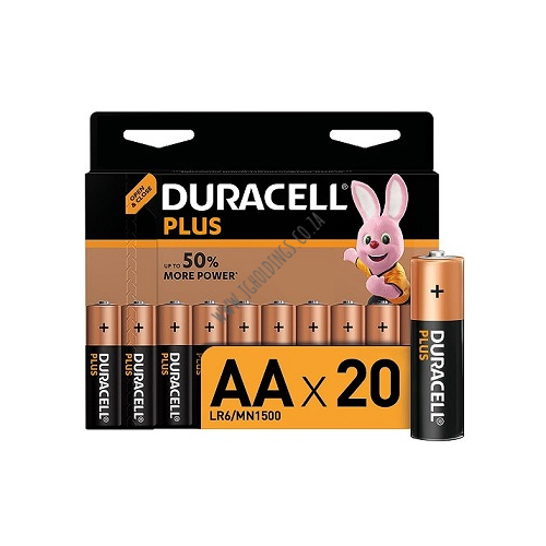 DURACELL POWER PLUS AA BATTERY 20 PACK 10 PER BOX
