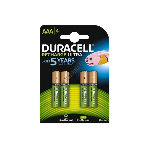 DURACELL RECHAGE ULTRA AAA BATTERY 4 PACK 10 PER BOX