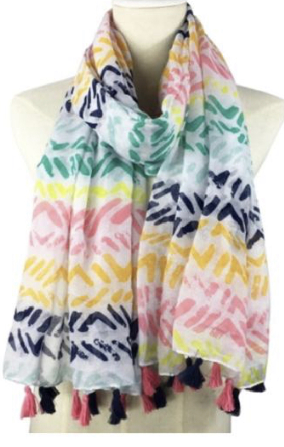 Girl Tribe - Ladies Scarf - Rainbow Repeat M453