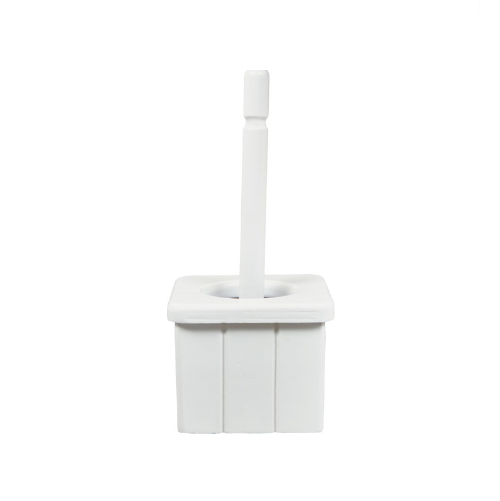 MTS HOME WHITE WOODEN TOILET BRUSH AND HOLDER