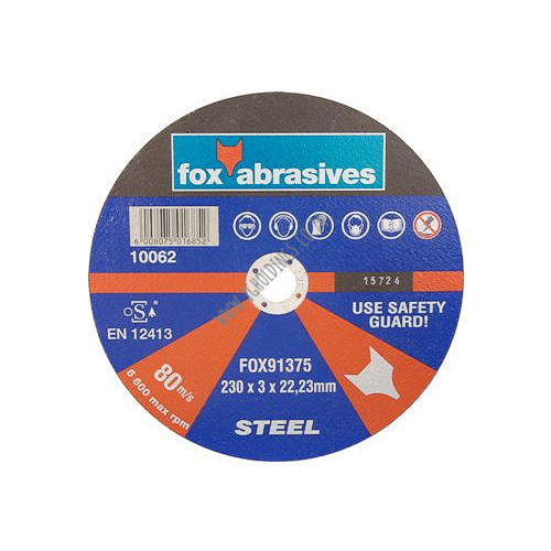 FOX ABRASIVE STEEL CUTTING BLADE / DISC