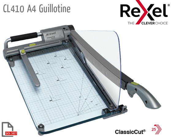 CL410 Guillotine A4 See-Through Base+ Laser