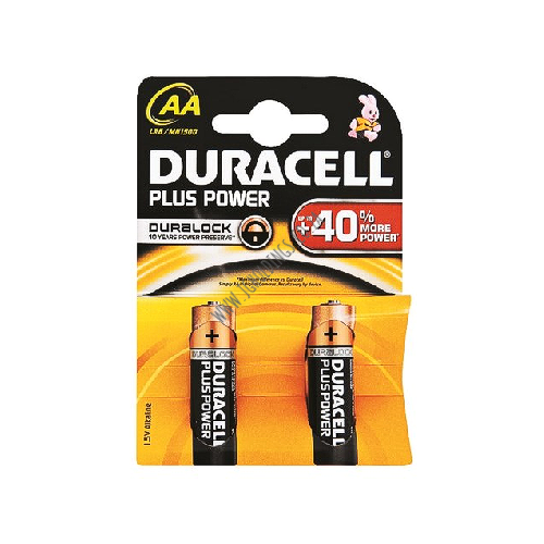 DURACELL PLUS POWER AA BATTERY 2 PACK 20 PER BOX