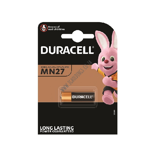 DURACELL POWER PLUS ALKALINE MN27 BATTERY 1 PACK 10 PER BOX